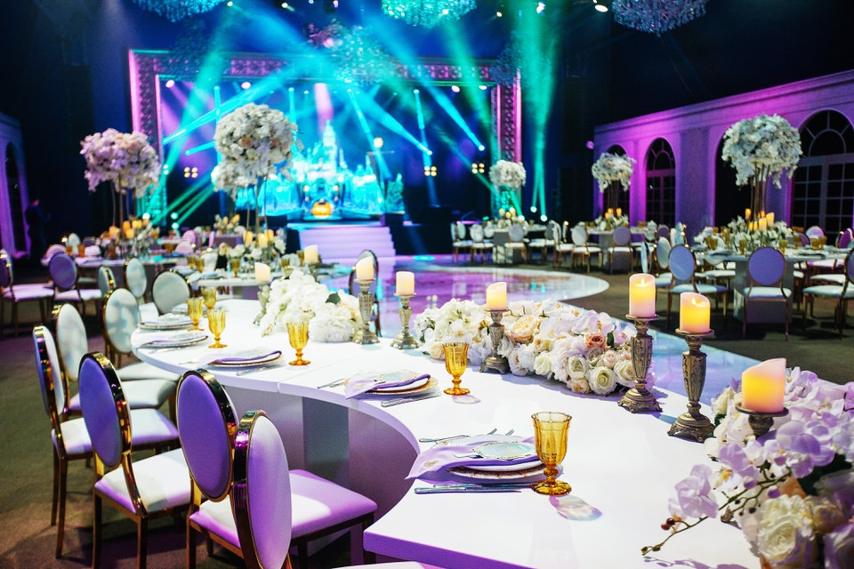 luxury wedding reception cannes